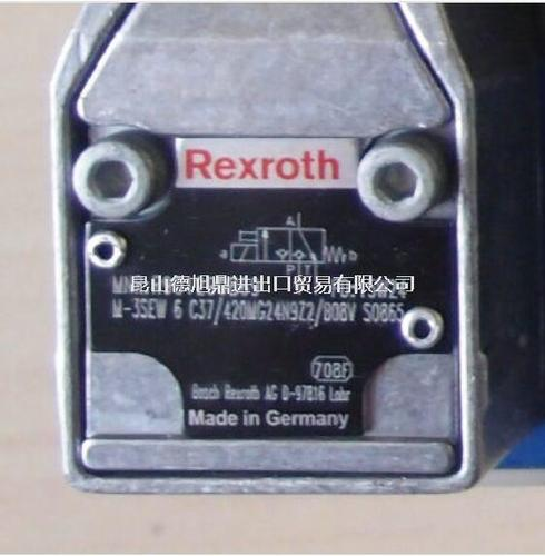 德国REXROTH电磁阀M-3SEW 6 C3X/420MG24N9Z2/B08V SO865